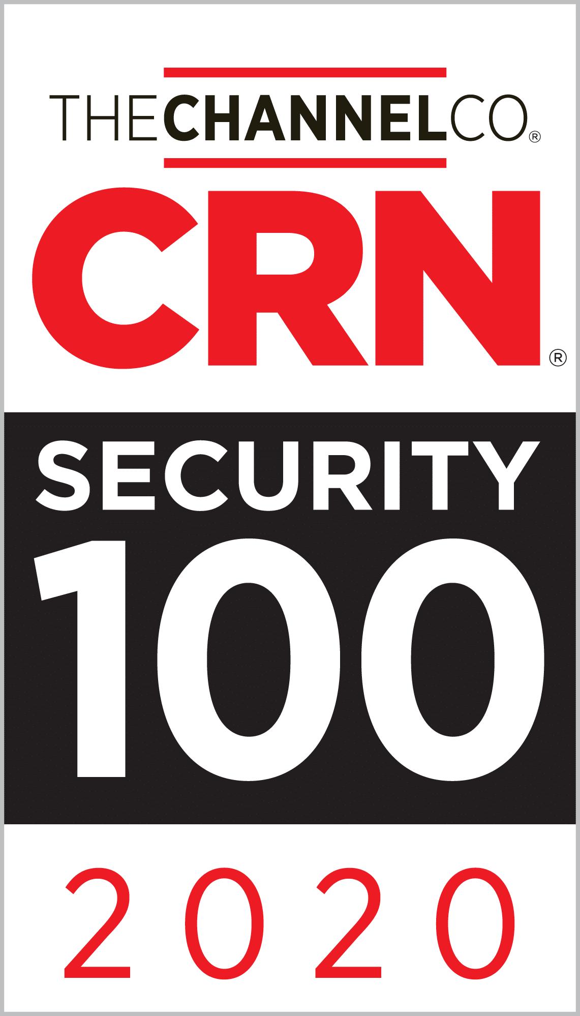 2020 CRN Security 100 Award Logo