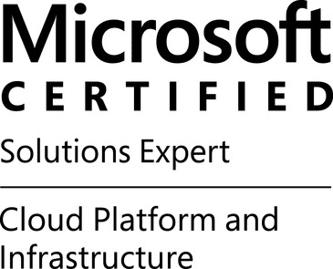 Microsoft Cloud Solutions Expert (MCSE) Cloud Platform and Infrastructure Certification Icon
