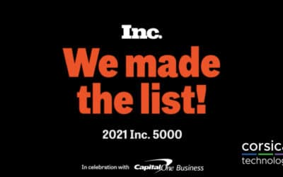 Corsica Technologies Recognized as One of America's Fastest Growing Private Companies by Inc. Magazine
