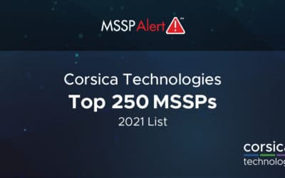 Corsica Technologies Named to MSSP Alert's  Top 250 MSSPs List for 2021
